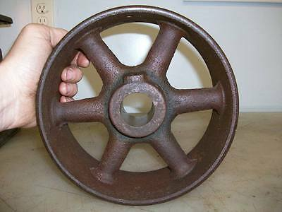 """8-1/2"""" x 3-1/2"""" FLAT BELT PULLEY 1-1/2"""" Mounting Hole Old Gas Engine PULLEY"""