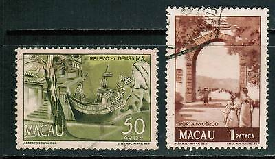 Macau 1950-51, Sc#347 - 347A, Scenic Type, used cp1
