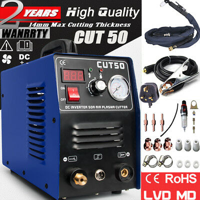 50A Inverter DIGITAL Air Plasma Cutter machine cut50 230V with all accessories