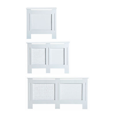 Radiator Cover White 3 Sizes Available MDF Solid Modern Home Design Assembly