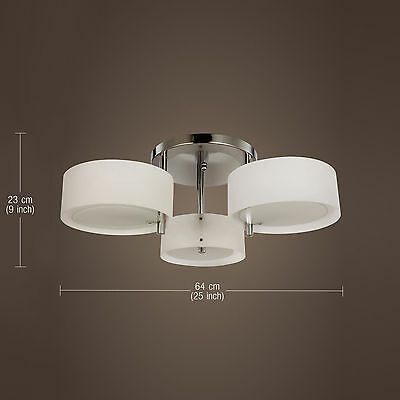 BEST Modern Flush Mount Crystal 3Lights Ceiling Pendant Chandelier Lamp Lighting