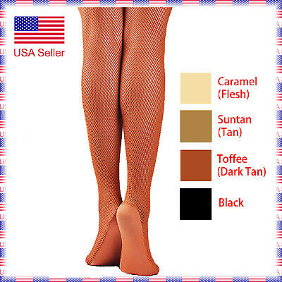 43445edd3f320 5A (4 Colors) Women's Professional with Foot Panel Dance Fishnet Tight  Stocking