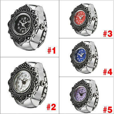 Dial Analog Flower Pattern Attractive Delicate Quartz Dial Wrist Watch Ring Fine