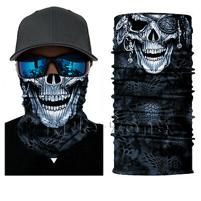 Forest Skull Camo Face Shield Sun Mask Balaclava Neck Gaiter Bandana Neckerchief