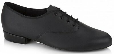 Black leather oxford Freed MLB ballroom/latin dance shoes - size UK 7.5