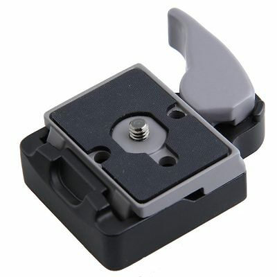 Black SLR DSLR Camera Quick Release Adapter Manfrotto Compat Clamp Plate Shutter