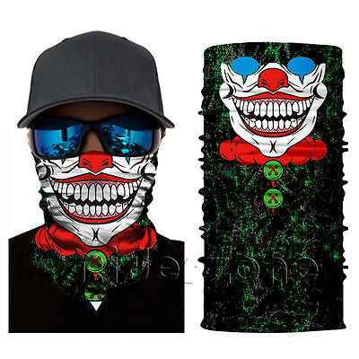 Motorcycle Skull Camo Face Shield Sun Mask Balaclava Neck Gaiter Neckerchief