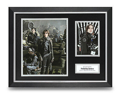 Felicity Jones Signed Photo Framed 16x12 Star Wars Autograph Memorabila Display