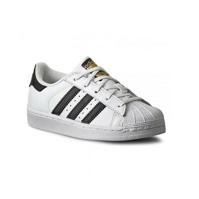 super popular 58912 be5f6 Adidas SUPERSTAR K FOUNDATION BA8378 Bianco Nero mod. BA8378