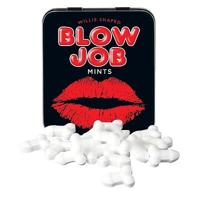 Tin Blow Job Mints Adult Novelty Gift Stag Hen Birthday Valentines Gift