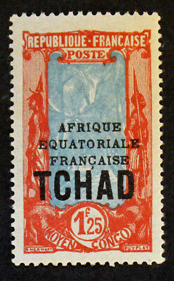 Timbre TCHAD / CHAD Stamp (COLONIE) Yvert et Tellier n°53A n* (COL7)