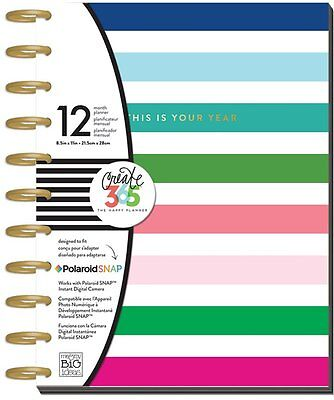 """Big The Happy Planner Modern Brights 12 Mths UNDATED 8.5""""x11"""" Larger Size MAMBI"""