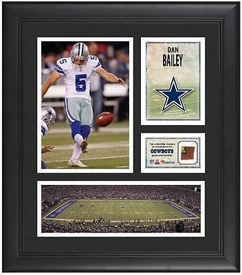 "Dan Bailey Dallas Cowboys Framed 15"" x 17"" Collage with Game-Used Football"