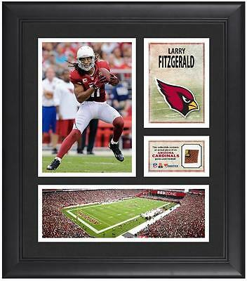 Larry Fitzgerald NFL Arizona Cardinals Framed 15x17 Collage w/Game-Used Football
