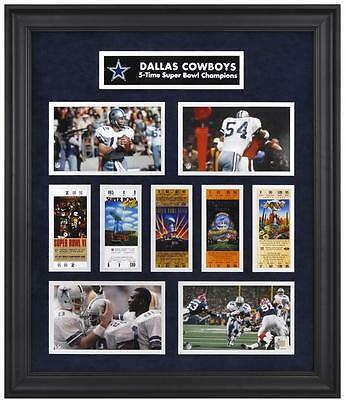Dallas Cowboys Framed Super Bowl Ticket Collage-Limited Edition of 1000
