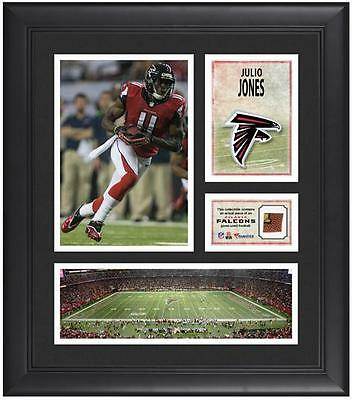 "Julio Jones Atlanta Falcons Framed 15"" x 17"" Collage with Game-Used Football"