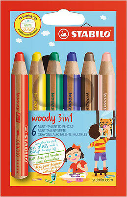 STABILO Multitalentstift woody 3 in 1, 6er Karton-Etui