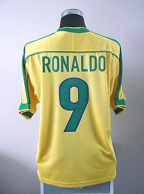 RONALDO #9 Brazil Home Football Shirt Jersey 1998-2000 (L)