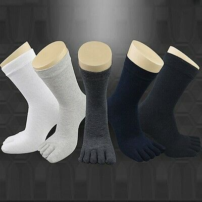 1 Pairs Women's Men's Casual Cotton Toe Socks Sports Five Finger Socks 5 Color