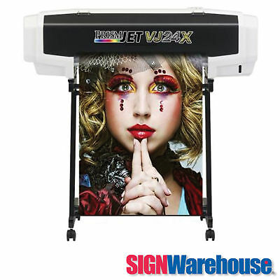 NEW PrismJET VJ24X Large Format Color Printer better than HP Roland w/ Eco Ink