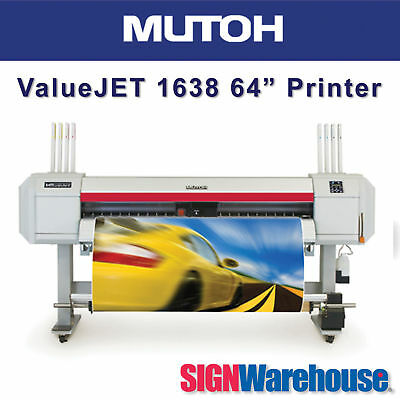 "Mutoh ValueJET 1638X 64"" Large Format Color HP Roland Printer by SignWarehouse"