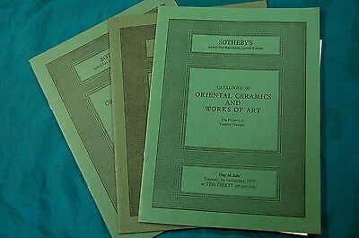 3 Sotheby's Catalogs Oriental Ceramics Works of Art 1975 1977 1980