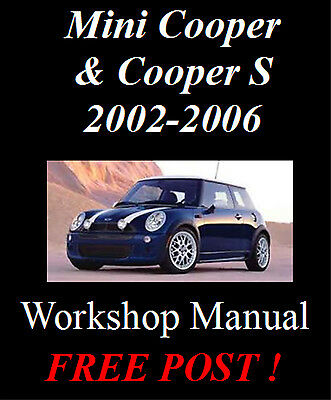 Bmw Mini Cooper & Cooper S 2002-2006 R50 R53 Workshop Manual On Cd - Free Post !