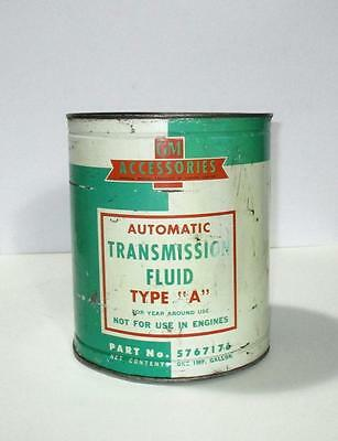 GM Accessories one gallon Transmission Oil tin GM Part # 5767176 Canada