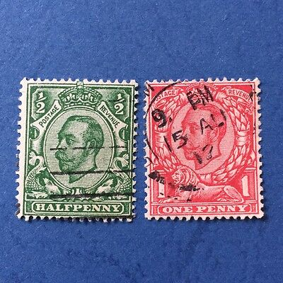 Great Britain KGV 153-154 VF Used, 1912 WMK Royal Cypher stamps