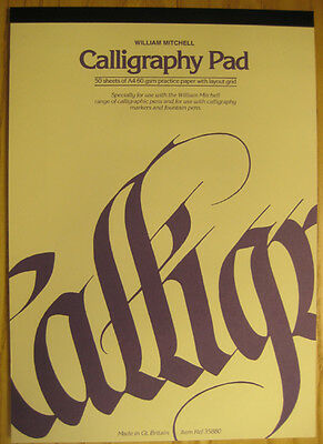 William Mitchell Calligraphy Practice Pad - A4
