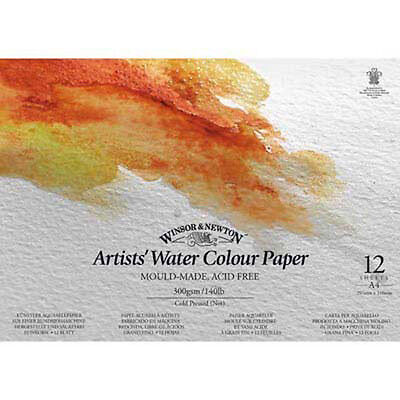 Winsor & Newton Artists Watercolour Pad 140lb / 300gsm Water Colour NOT - A4
