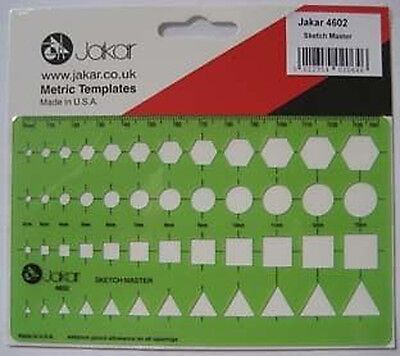 Jakar Template Stencil 4602 - Sketch Master circle etc