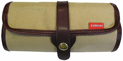 Derwent Pencil Wrap - Canvas Storage Travel Roll Case for Artists (Empty)