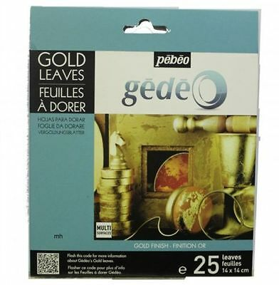 Pebeo Gedeo Gold Leaf for Gilding - Gold Silver Leaves / Mirror Red Blue Green