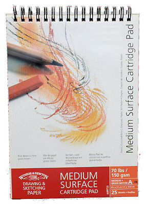 Winsor & Newton Cartridge Pad - Medium Grain - 150gsm - Spiral Bound - A5