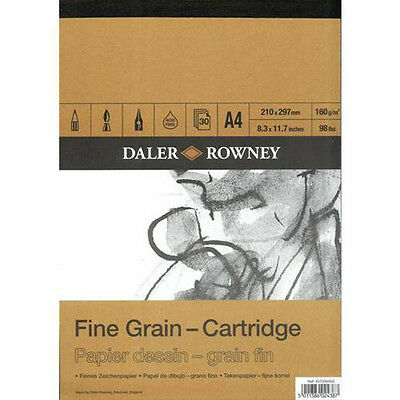Daler Rowney Fine Grain Cartridge Pad - 160gsm 30 sheets - A4