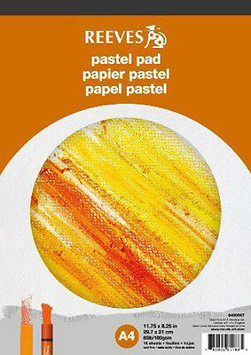 Reeves Artists Pastel Paper Pad - 180gsm - 16 Sheets - A4