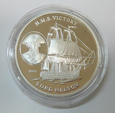 Korea 5 Won 2003 H.m.s. Victory Lord Nelson Seefahrt Ships Silber Pp
