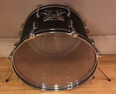 "Used 1970's Pearl Faux Leather 14x22"" Bass Drum"