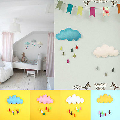 Decoration Toy Raining Cloud Water Drops Baby Bed Hanging Decor Boy Baby's Room