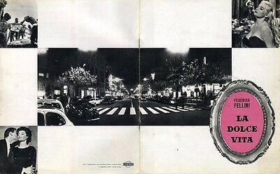 LA DOLCE VITA (1962) Original Italian promo program for seminal Fellini film