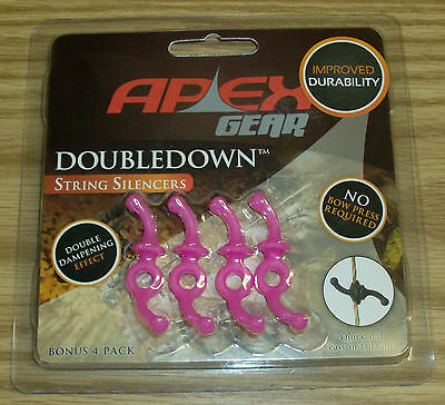 Apex Gear DoubleDown Bow String Silencer Pink 4 Pack