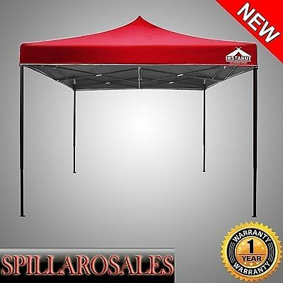 3 x 3m PREMIUM POP UP OUTDOOR GAZEBO FOLDING TENT MARKET PARTY MARQUEE Red