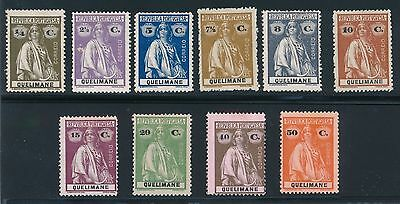 "1914 Quelimane ""Ceres"" VARIOUS ISSUES AS LISTED, CAT VALUE $36.50"