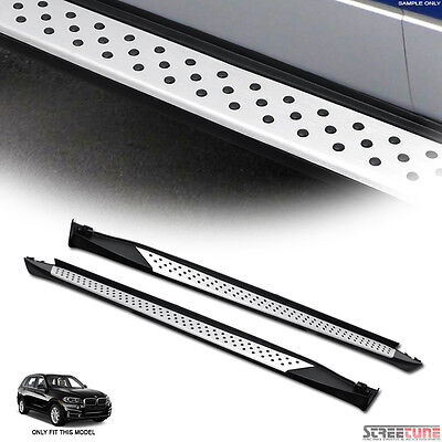 """6"""" Oe Style Aluminum Side Step Bar Running Boards Kit Pair 07-13 Bmw E70 X5 Suv"""