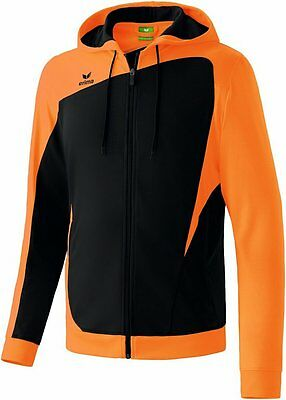 Erima Club 1900 Trainingjacket, Kinder, Gr. 0/128, Schwarz/Orange, Neu,UVP 39,95