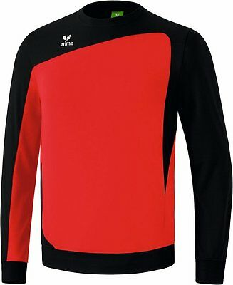 Erima Club 1900 Shiny Trainingssweat, Kinder, Gr. 1/140, Rot/Schwarz, UVP 34,95