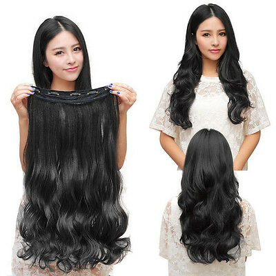 UK New One Piece 3/4 Full Head Clip in Hair Extension Real As Remy Human kcma