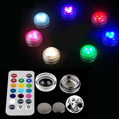 Waterproof 3 LED RGB Submersible Lights Wedding Party Vase Lamp+ Remote Control