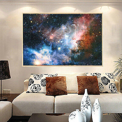 "43""x24"" Universe Galaxy Stars Universe Space Fabric Silk Cloth Poster Wall Decor"